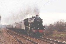 Black 5 steams past Milton