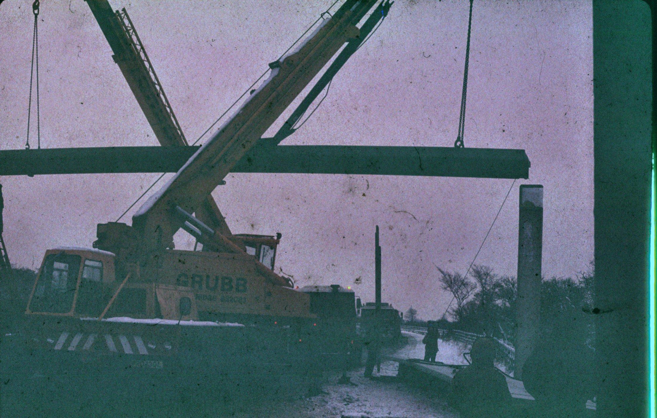 A10 bypass footbridge construction