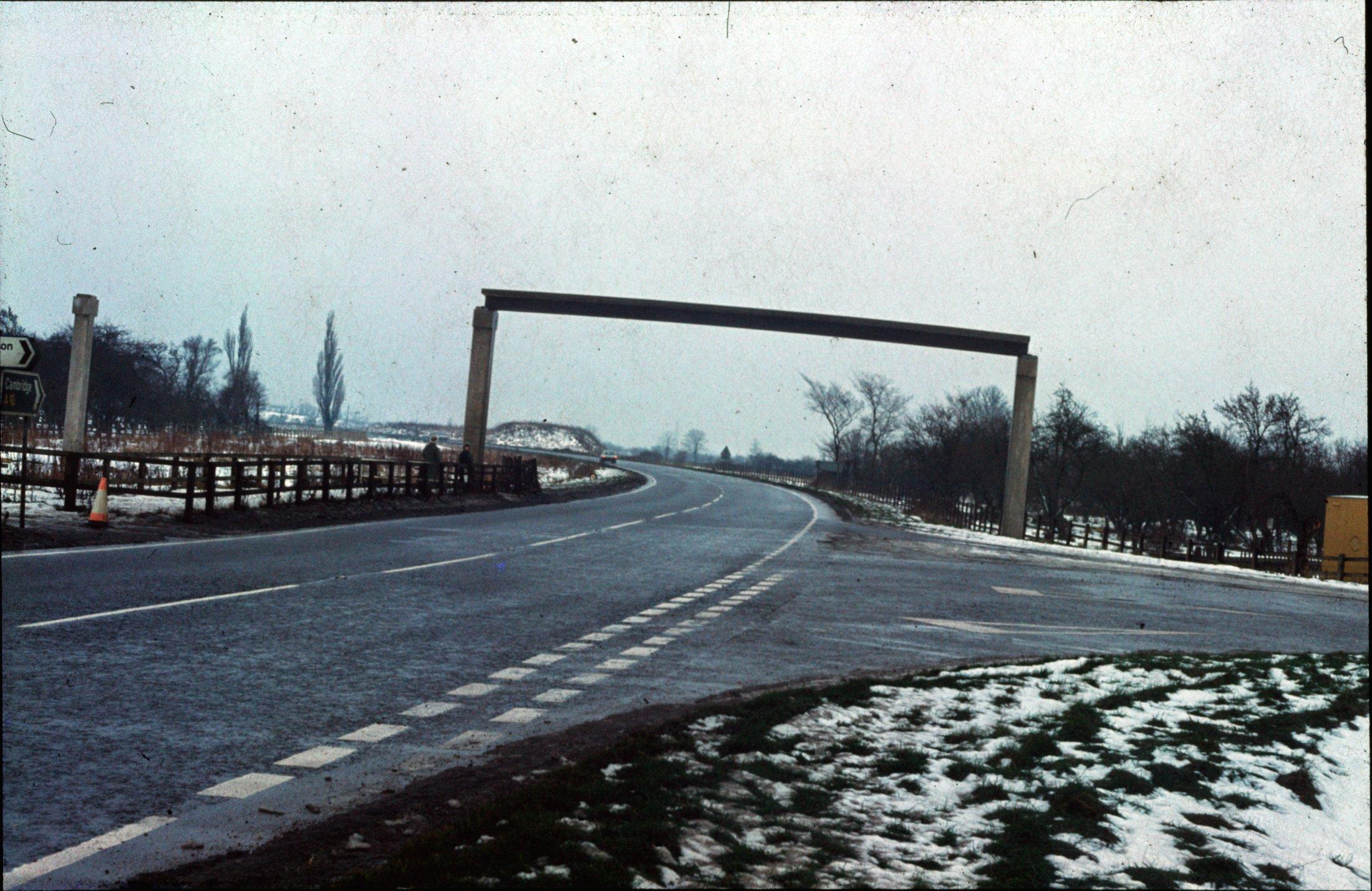 A10 Footbridge under construction