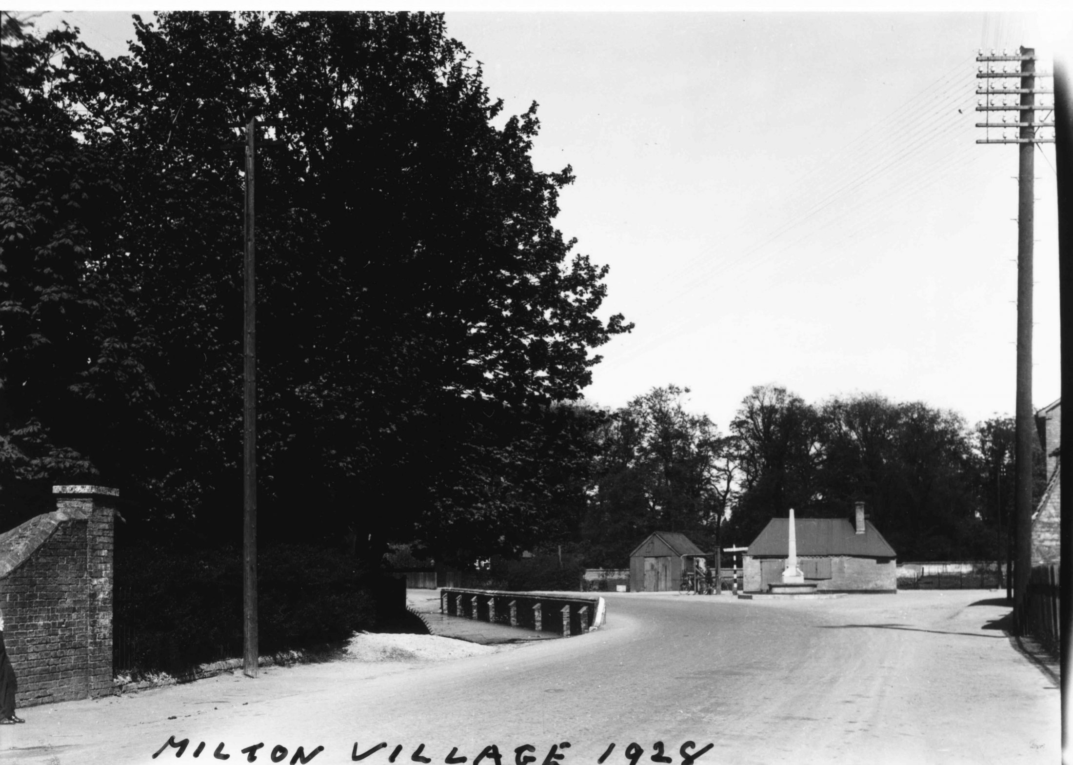 Milton Village With Pond 1928