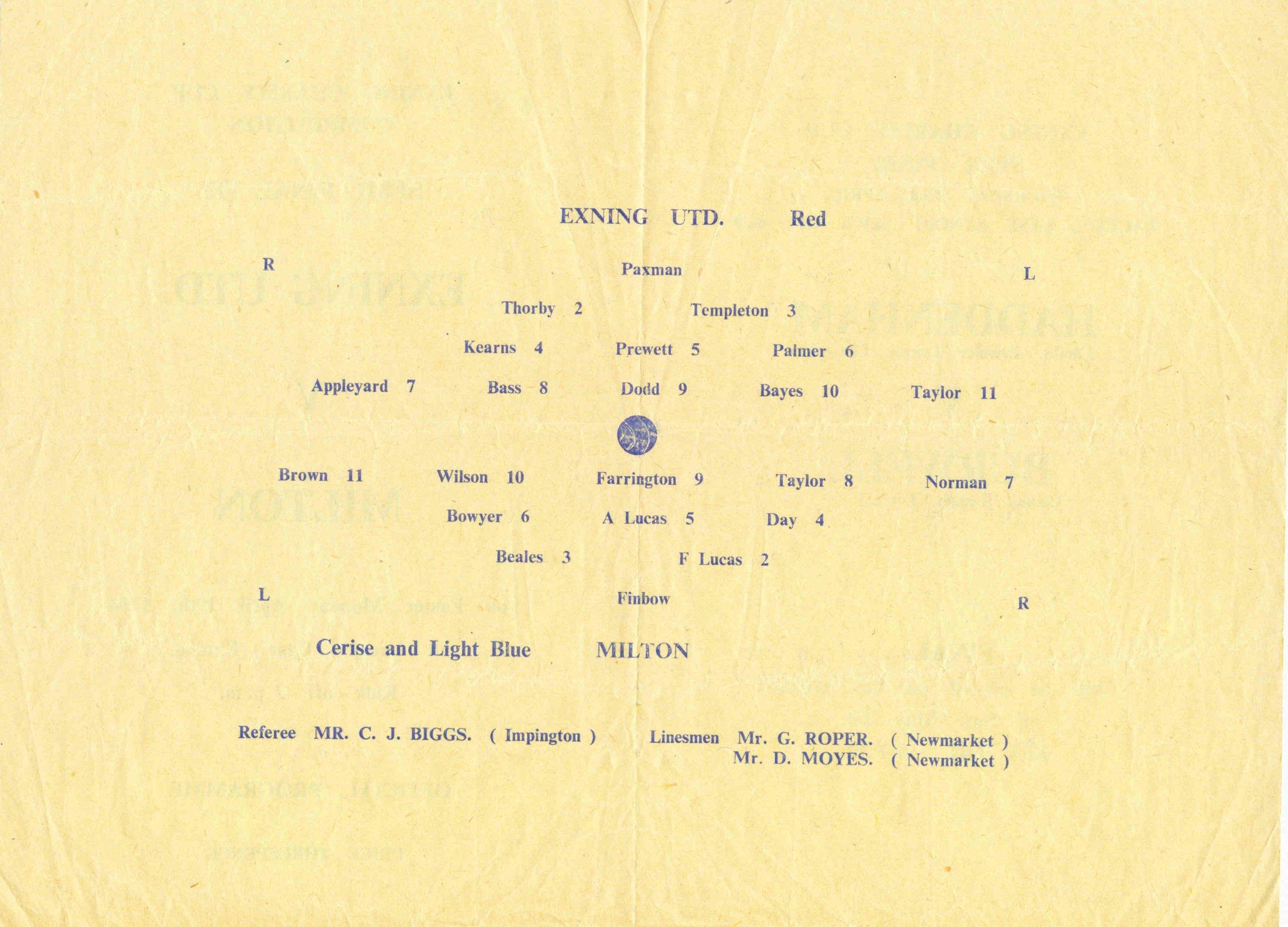 Football 2 Programme Back
