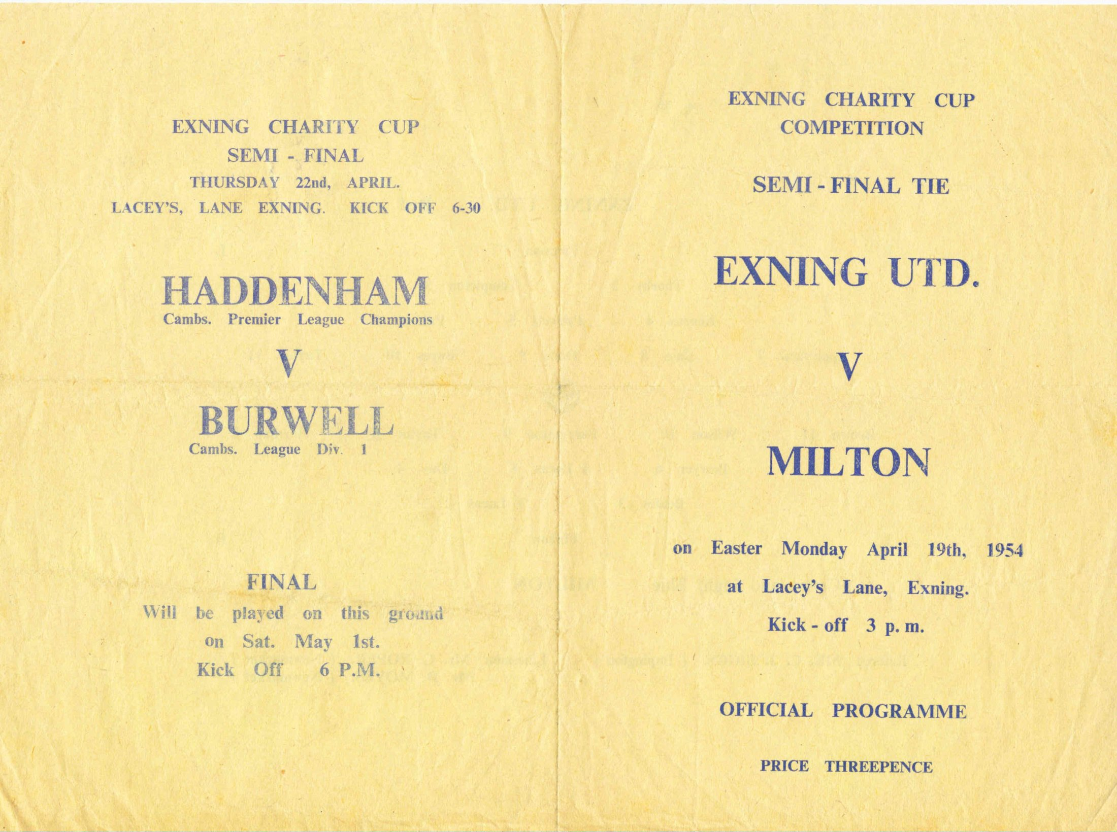 Football 2 Programme Front