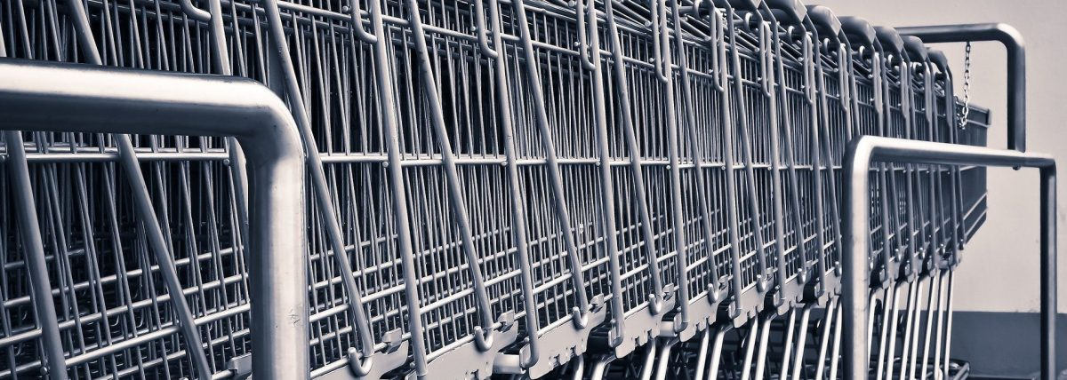 A picture of shopping trolleys